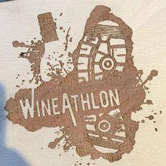 Prototyping memento designs #wineathlon #wine #run #uk #funrun #parkrun #huddersfield #cambridge #wholovestracksandtrails #getoutdoors