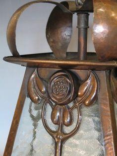 Gorgeous Glasgow Rose 1910 Lantern.