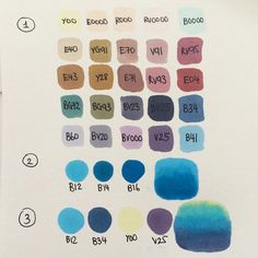 Covering topic no.5 on my tutorial to do list: Copic color selection! . So to explain this chart: Firstly, in section 1, it's a selection of my most favorite Copic colors. Needless to say, they are heavily abused and I have the refill ink for most of them ^^ Next, I'll explain my process when choosing colors for certain parts in an artwork. In section 2, you'll see a very basic way to select colors. B12, B14 and B16 are in the same color family, B, and they have the same first number '1'…