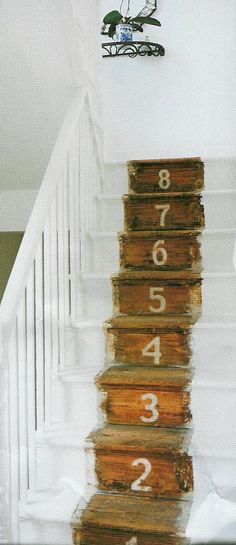 Numbered staircase - love this!