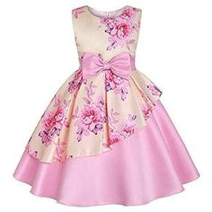 Kid Girl Cotton Butterfly Clothes Years Little Girls Sleeveless Floral Princess Dress Sundress Size 7 Years OldGirls Pink Floral Sateen Overlay Summer Party Dress - Find girls party dresses online from Divas Fashions for your wedding party.M-Sea Girl African Dresses For Kids, Toddler Girl Dresses, Little Girl Dresses, Toddler Girls, Baby Girls, Toddler Formal Dresses, Elegant Party Dresses, Sexy Dresses, Girls Party Dresses
