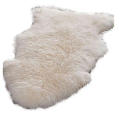 Handmade white sheepskin rug.   Product: RugConstruction Material: Sheepskin woolColor: White