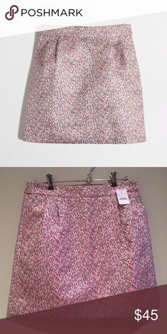 J.Crew NWT multi-color jacquard mini skirt. Size 2 J.Crew factory NWT multi-color jacquard mini skirt, flamingo gold. Size 2. New with tags, never been worn. Love this skirt, just isn't the right size. J. Crew Skirts Mini