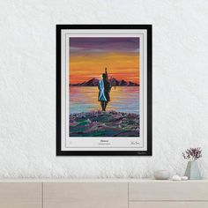 Iconic painting of a lone piper on the Isle of Arran by colourful Scottish artist Steven Brown. Steven Brown Art, Isle Of Arran, Canvas Wall Art, Modern Art, Cow, Artists, Abstract, Artwork, Painting