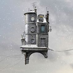 Flying Houses – Les nouvelles photographies surréalistes de Laurent Chéhère