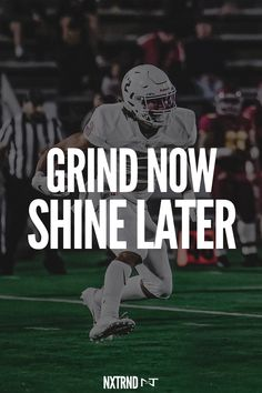 If you want to shine later, you have to grind now. #FootballQuotes #SportQuotes #Motivation #Inspiration #Football #Nxtrnd #Training Motivational Quotes For Athletes, Athlete Quotes, Trippy Wallpaper, Wallpaper Quotes, Best Football Quotes, Mouth Guard, Sport Quotes, Quote Posters, Motivation Inspiration
