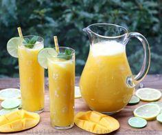 Mango lemomade or mango limeade