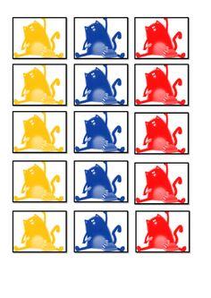 Splat Le Chat : jeu de tri de couleurs
