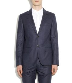 Chic flannel jacket - Navy blue chiné - M - A.P.C. MEN