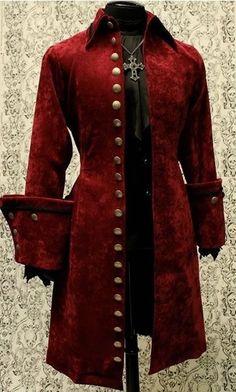 SHRINE GALLEON VELVET GOTHIC VAMPIRE VICTORIAN PIRAT COAT JACKET GOTH STEAMPUNK  #SHRINE #Military