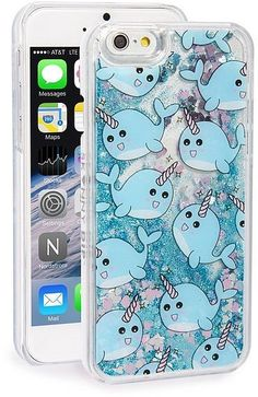 Skinnydip 'Narwhal' Glitter Liquid iPhone 6/6s Case ($30)