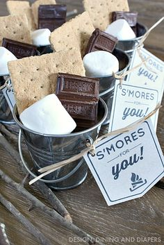 Individual S'mores Kits with FREE Printable!