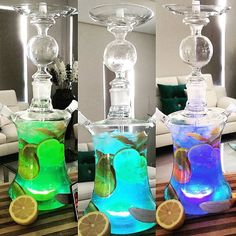 Shisha Glass Hookah Argileh- Art Hookah, Art Shisha Pipe With LED