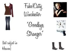 """""""Fake!Catty Winchester Worlds Colliding (Supernatural) 8.17 """"Goodbye, Stranger"""""""" by mysticfalls1997 ❤ liked on Polyvore featuring Michael Kors, maurices and Madden Girl"""