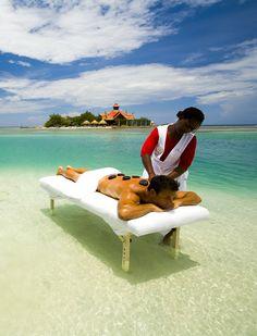 massage at the beach