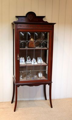 Edwardian Mahogany Display Cabinet - Antiques Atlas Antique Display Cabinets, Shelves, Antiques, Storage, Furniture, Home Decor, Antiquities, Purse Storage, Shelving