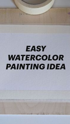 EASY WATER COLOR PAINTING IDEA