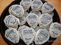 Police Badge cookie By momgns on CakeCentral.com