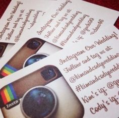 Instagram Our Relay! hand these out to people as they enter, have them help us document the day!