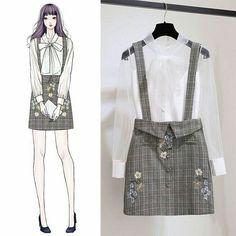 Check Out These Awesome korean fashion outfits 1915 Kawaii Fashion, Cute Fashion, Look Fashion, Girl Fashion, Womens Fashion, Fashion Ideas, Fashion Styles, Street Fashion, Fashion Art