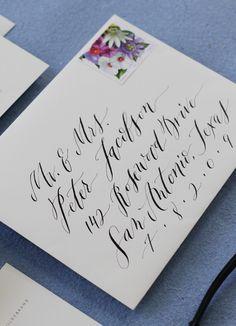 envelope address lettering