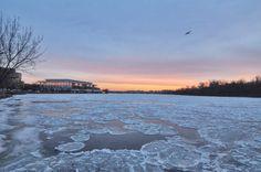 Frozen Potomac River