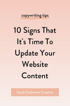 #content #scc #copywriting Learn the 10 signs that it's time to rewrite your website copy. Persuasive Words, Sales Strategy, Online Blog, Tough Love, Get To Know Me, Copywriting, Blogging For Beginners, Make Money Blogging, Business Tips