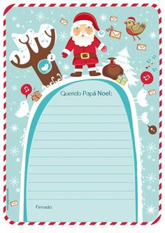 Resultado de imagen para como hacer cartas de navidad faciles y lindas paso a paso   para  niñas   para   papa  noel