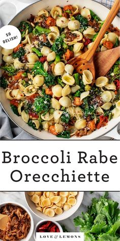 This orecchiette pasta with broccoli rabe is such a delicious dinner! It's hearty, healthy, and satisfying, thanks to plant-based sausage, caramelized onions, and bitter greens.   Love and Lemons #orecchiette #pasta #broccoli #plantbased Pot Pasta, Pasta Dishes, Food Dishes, Main Dishes, Side Dishes, Broccoli Rabe Recipe, Broccoli Main Dish Recipes, Mozzarella, Vegetarian Recipes