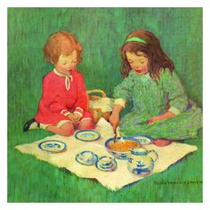 Jessie Willcox Smith Greeting Cards: Tea for Two