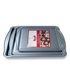 Love this Red & Silver Cookie Tray - Set of Three on #zulily! #zulilyfinds