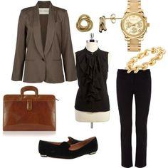 """first day of work outfit   First Day of Work Outfit"""" by malia-linda-javier on Polyvore"""