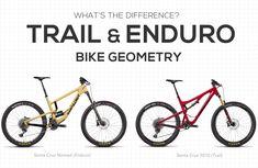 What's the Difference Between Trail Bike and Enduro Bike Geometry? - What's the Difference Between Trail Bike and Enduro Bike Geometry? Mountain Bike Shoes, Mountain Bicycle, Mountain Biking, Santa Cruz Nomad, E Mtb, Mtb Bike, Bike Equipment, Bike News, Road Bike Women