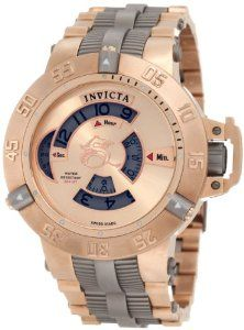 Invicta Men's 1571 Subaqua Noma III Mechanical 18k Rose Gold Ion-Plated Stainless Steel Watch