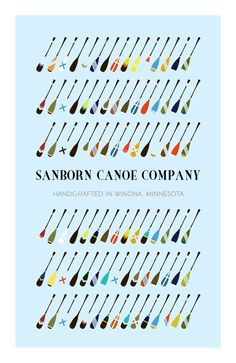 /// Sanborn Canoe Company I love painted paddles. I painted my Shaw and Tenney double paddle 20 years ago...classic.