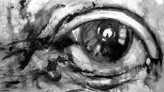 """""""La navaja en el ojo de Buñuel"""" Acrílico/tela 120x 60cm Vendido"""