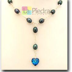 collares de perlas con corazon bisuteria - Buscar con Google