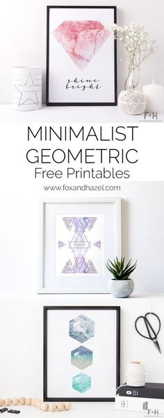 Download 3 free geometric minimalist art prints made with dreamy marble textures. Print all three to create a gallery wall of your minimalist dreams!