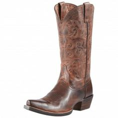 Ariat Brown Alabama Cowgirl Boots - Women's Fashion Boots - Women's Boots Style - Cowgirl Boots - Boots