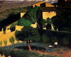 """bofransson: """"Landscape in Cagnes, 1923 Félix Vallotton """""""