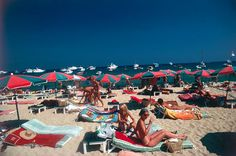 Beach at St. Tropez by Slim Aarons