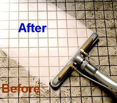 Tile Floor Cleaner - Sprinkle baking soda on tile then spray mixture of 1/2c hydrogen peroxide & 1c warm water. Soak for 10 mins. Wet vac up. Steam for extra whiteness. Super easy & no scrubbing!!!!