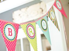 This free printable DIY printable banner can be used for any simple occasion that needs celebrating! Printable Banner, Party Printables, Free Printables, First Birthday Parties, Boy Birthday, First Birthdays, Party Decoration, Birthday Decorations, Diy Cadeau