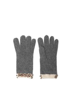 GLOVE WITH COMBINED CUFF AND STONES - Accessories - Accessories - Woman - ZARA United States