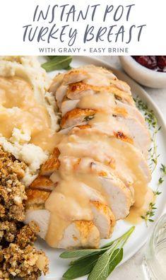 Turkey Side Dishes, Main Dishes, Gluten Free Gravy, Real Food Recipes, Healthy Recipes, Healthy Food, Turkey Stuffing, Turkey Leftovers, Turkey Breast