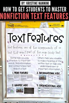 Freebies to Help Students Master Nonfiction Text FeaturesYou can find Nonfiction text features and more on our website.Freebies to Help Students Master Nonfiction Text Features Text Feature Anchor Chart, Nonfiction Text Features, 3rd Grade Classroom, School Classroom, Reading Anchor Charts, Word Families, Upper Elementary, Math Lessons, Language Arts