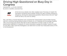 Driving High Questioned on Busy Day in Congress abcnews.go.com/Health/wireStory/driving-high-questioned-busy-day-congress-24794873 Pinned by the You Are Linked to Resources for Families of People with Substance Use  Disorder cell phone / tablet app August 5, 2014;      Android https://play.google.com/store/apps/details?id=com.thousandcodes.urlinked.lite   iPhone -  https://itunes.apple.com/us/app/you-are-linked-to-resources/id743245884?mt=8co