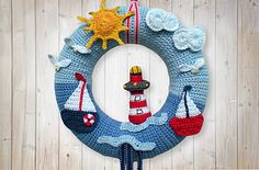 This wreath brings the sea to your house. It's a great decoration for your house.