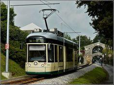 Tram 501 of the Pöstlingbergbahn at Linz Train, Cars, Street, Linz, Autos, Car, Automobile, Strollers, Walkway