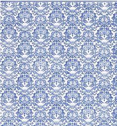JHermes 1:24 Wallpaper - 3 pcs Renaissance Blue